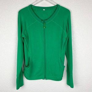 Lululemon Stretchy Scoopneck Zip-Up Jacket Green 8